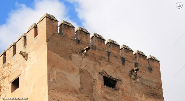 Detalle almenas de la Torre del Homenaje