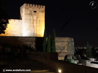 Torre del Homenaje y del Cubo nocturno