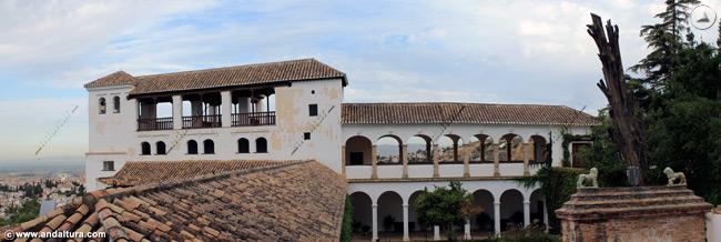 Palacio del Generalife desde los Jardines Altos