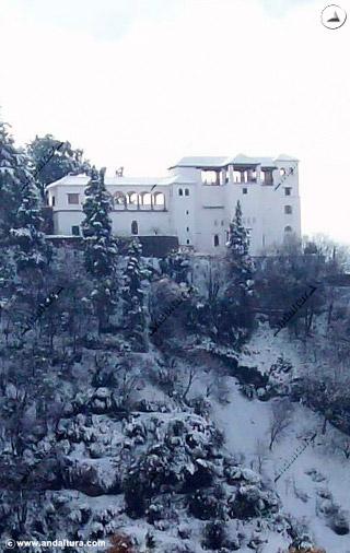 Torre de Ismail y Palacio del Generalife nevado