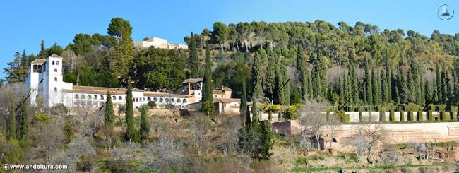 Palacio del Generalife, Torre de ISmail, Dehesa del Generalife y Silla del Moro