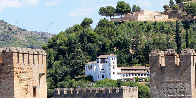 Palacio del Generalife y Torre de Ismail desde la Torre de la Vela
