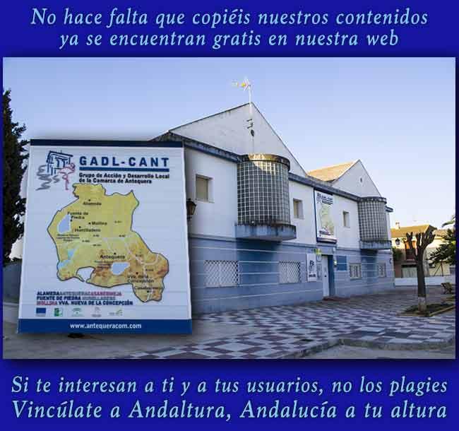 No plagies contenidos y Vincúlate a Andaltura, Andalucía a tu altura