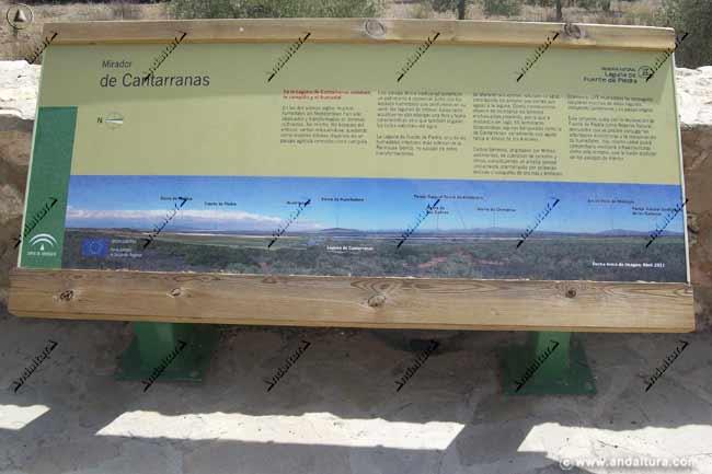 Cartel indicativo del Mirador de Cantarranas