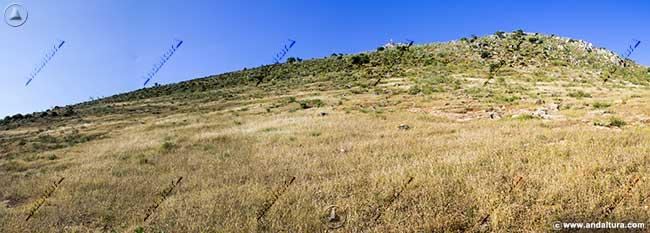 La Cruz de la Camorra, terminando el descenso en las proximidades de Alameda