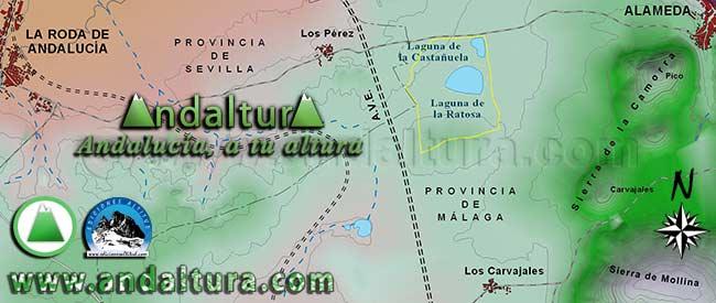 Mapa de Situación de Los Carvajales y la Reserva Natural Laguna de la Ratosa