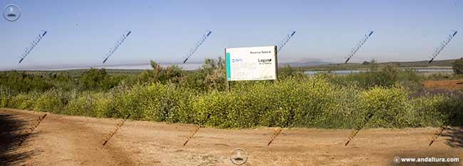 Unión de pistas junto a la Laguna de la Ratosa