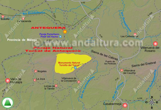 ¿como llegar a antequera? mapa de accesos a la localidad