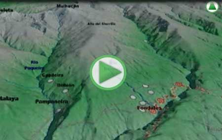 Animación Virtual del Recorrido GR-142 desde Lanjarón (Granada) hasta Fiñana (Almería)