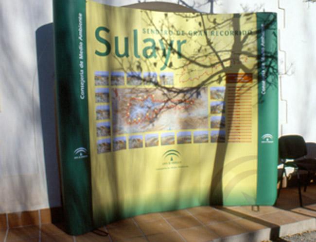 Cartel de la presentación del Sendero de Gran Recorrido GR-240, Sulayr