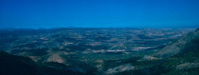 Vistas del Valle de Lecrín durante la realización del GR240